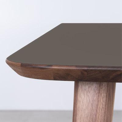 Sav & Okse Tomrer Table Gray Fenix Top - Walnut Legs