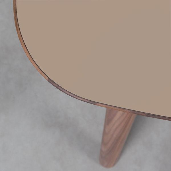 bSav & Økse Tomrer Table Clay gray Fenix top - Walnut legs