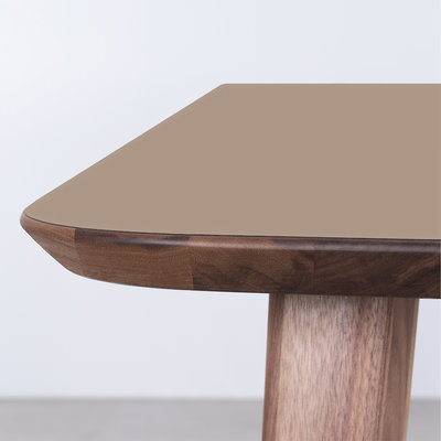 Sav & Okse Tomrer Table Clay gray Fenix top - Walnut legs