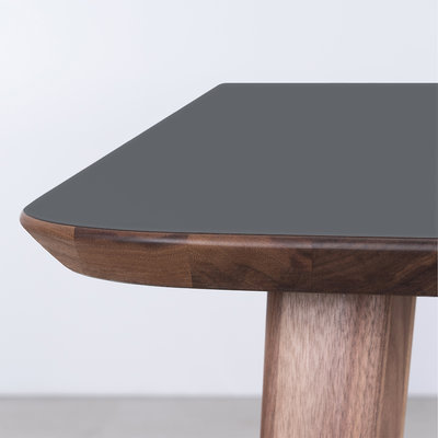 Sav & Okse Tomrer Table Basalt gray Fenix top - Walnut legs