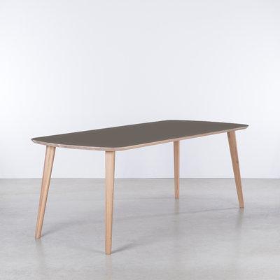 Sav & Økse Tomrer Table gray Fenix top - Oak Whitewash legs
