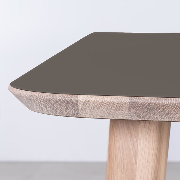 bSav & Okse Tomrer Table gray Fenix top - Oak Whitewash legs