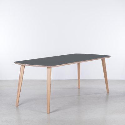 Sav & Økse Tomrer Table Basalt gray Fenix top - Oak Whitewash  legs