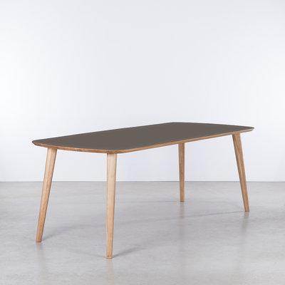 Sav & Økse Tomrer Table gray Fenix top - Oak legs
