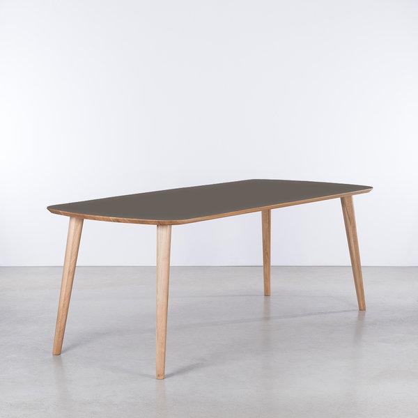 bSav & Økse Tomrer Table gray Fenix top - Oak legs