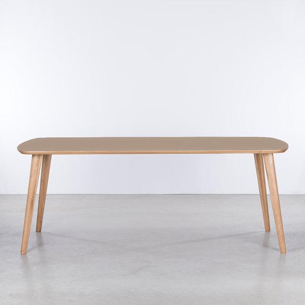 bSav & Økse Tomrer Table Clay gray Fenix top - Oak legs