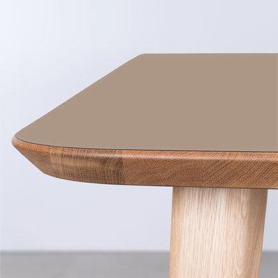 Sav & Økse Tomrer Table Clay gray Fenix top - Oak legs