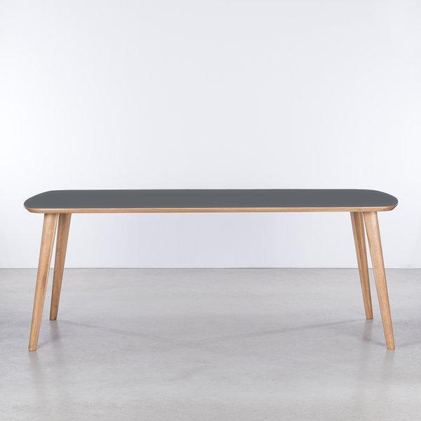bSav & Okse Tomrer Table Basalt gray Fenix top - Oak legs