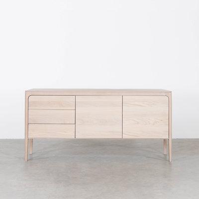 Sav & Økse Rikke Sideboard Oak Whitewash 3-compartment