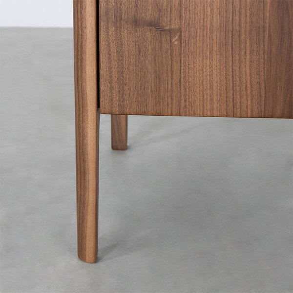 bSav & Økse Rikke Highboard Cabinet Walnut 2-door