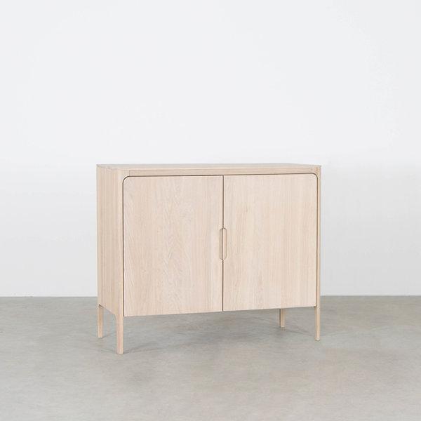 bSav & Økse Rikke Highboard Cabinet Oak Whitewash 2-door