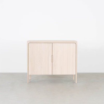 Sav & Økse Rikke Highboard Cabinet Oak Whitewash 2-door