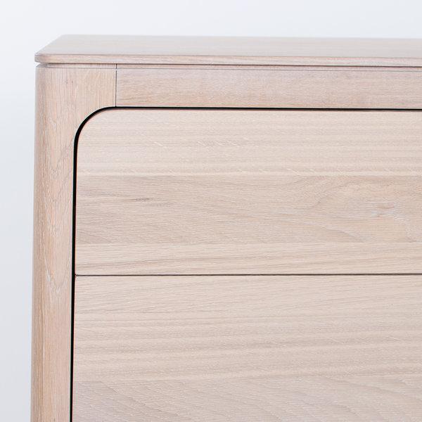 bSav & Økse Rikke Sideboard Oak Whitewash 4-compartment