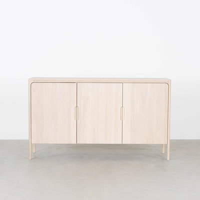 Sav & Økse Rikke Highboard Cabinet Oak Whitewash 3-door