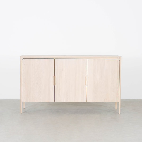 bSav & Økse Rikke Highboard Cabinet Oak Whitewash 3-door
