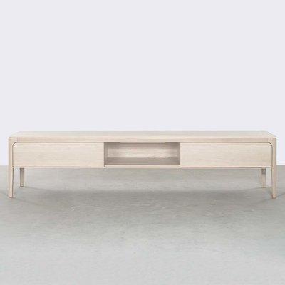 Sav & Økse Rikke TV Cabinet Oak Whitewash 200cm