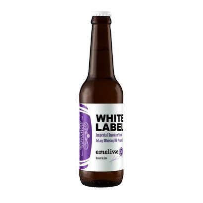 Brouwerij Emelisse (Slot Oostende) White Label Imperial Russian Stout Islay Whisky BA Peated - 33 cl