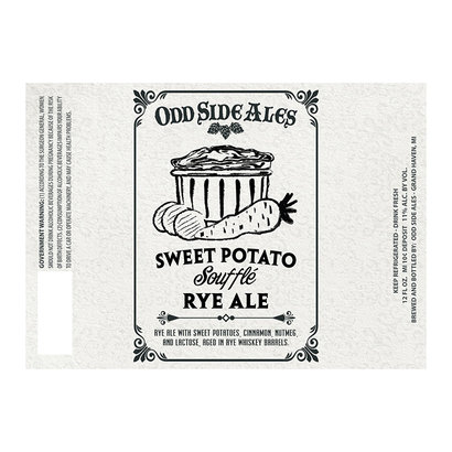 Odd Side Ales Odd Side Ales Sweet Potato Soufflé Rye Whiskey Barrel Aged Ale - 35,5 cl