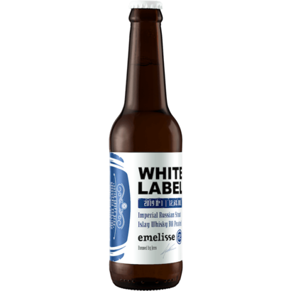 Brouwerij Emelisse (Slot Oostende) Emelisse White Label Imperial Russian Stout Islay Whisky BA Peated 2019 Nº 1 - 33 cl