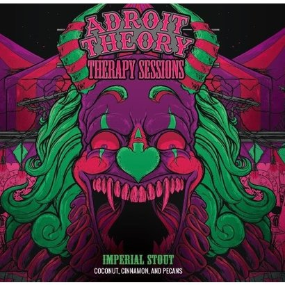 Adroit Theory Brewing Company Adroit Theory Therapy Sessions (Coconut, Cinnamon, & Pecan) - 65 cl (Ghost 795)