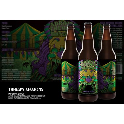 Adroit Theory Brewing Company Adroit Theory Therapy Sessions [Apple Brandy Barrel Aged Toasted Coconut + Belizian Cacao Nibs + Tahitian Vanilla] - 65 cl (Ghost 796)
