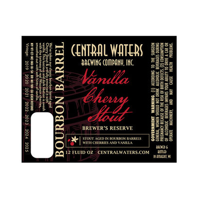 Central Waters Brewing Co. Central Waters Brewer's Reserve Vanilla Cherry Stout - 35,5 cl