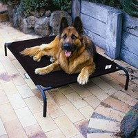 Coolaroo Dog bed Large zwart 110x80cm