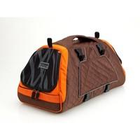 PetEgo Jet Set draagtas Bruin/oranje in S - L