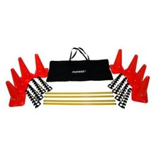 FitPA - adjustable and portable  agility cone and hurdle set