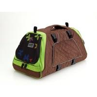 PetEgo Jet Set draagtas Bruin/Groen in S - M