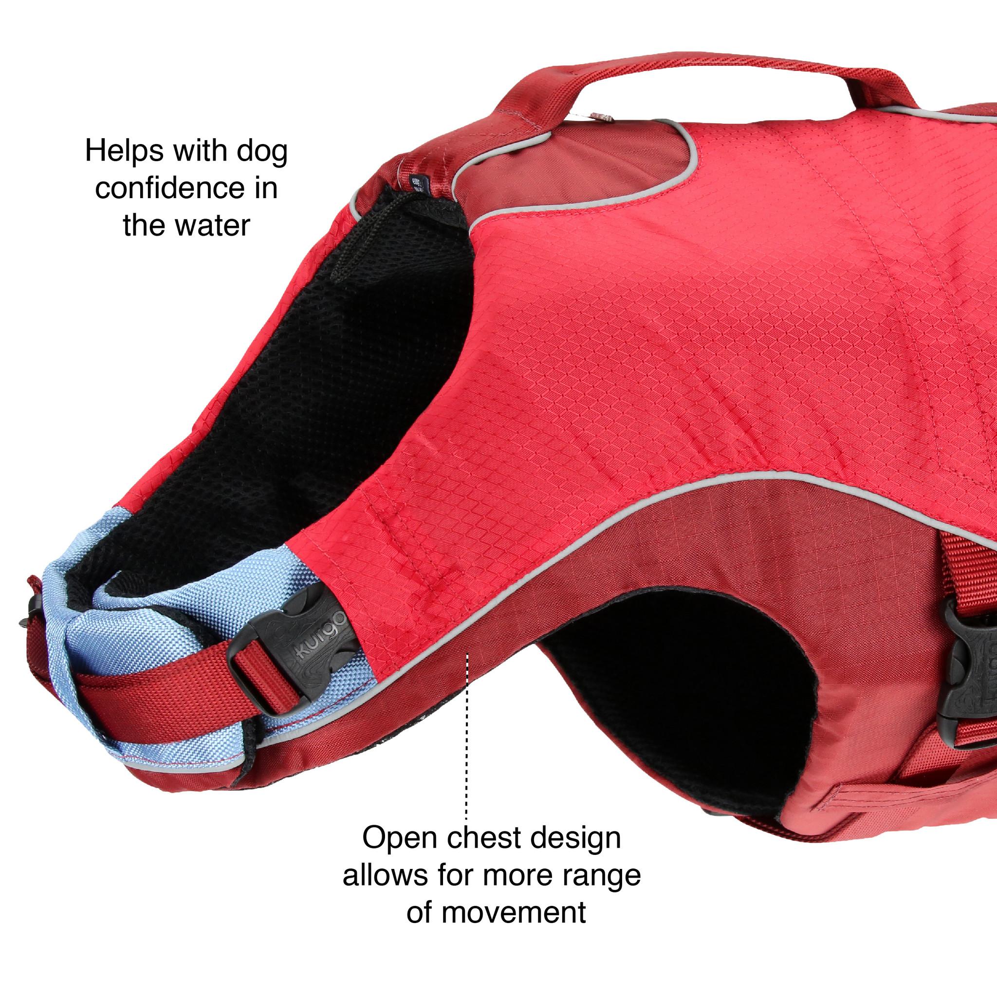 KURGO life jacket for dog features