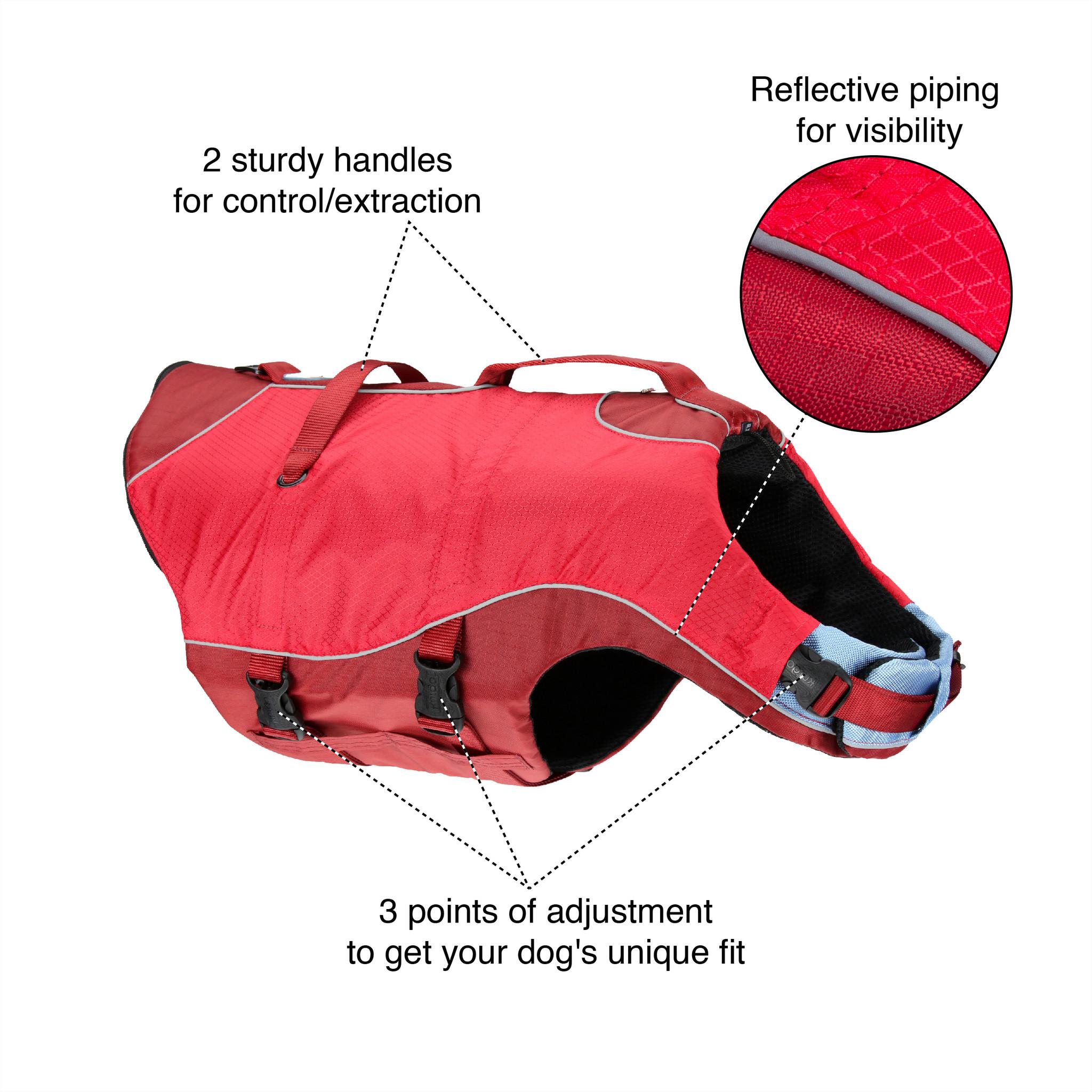 Kurgo Surf N Turf dog life jacket features