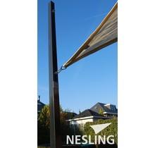 Nesling Pilier 7x7x250 cm pour voile d'ombrage avec Flex oeil N100-070-250
