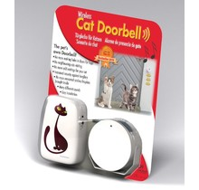 Wireless alarm cat and dog doorbell