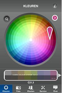 Een kleur scannen op de Iphone