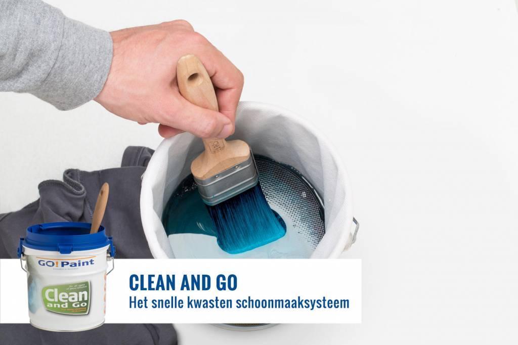 Kwasten schoonmaken met de producten van Go!Paint
