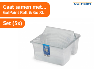 Go!Paint Inzetbak tbv Roll and Go XL  set à 5 stuks