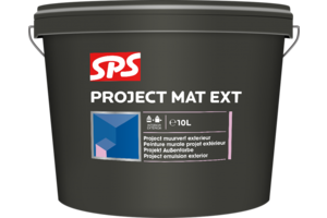 SPS Muurverf zwart RAL 9005 binnen en buiten