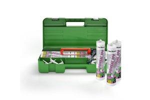 Den Braven Hybriseal 2PS Smartbox 6 kokers wit + MK5 Kitpistool