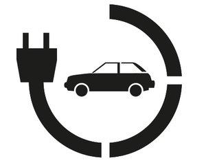 Rust-Oleum Oplaadpunt electrische auto 90x80cm