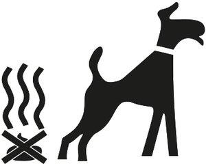 Rust-Oleum Honden niet uitlaten 90x80cm
