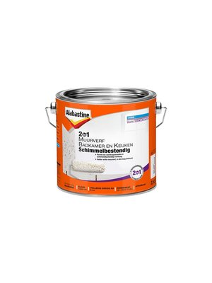 Alabastine Muurverf 2in1 Badkamer en Keuken Schimmelbestendig