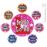 Buttons vrijgezellenfeest dames set van 8