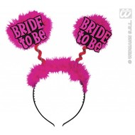 Zwart diadeem Bride to be