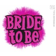 Zwarte broche bride to be