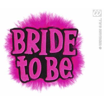 Zwarte broche met de tekst bride to be