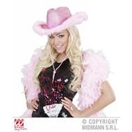 Roze cowboyhoed met marabou