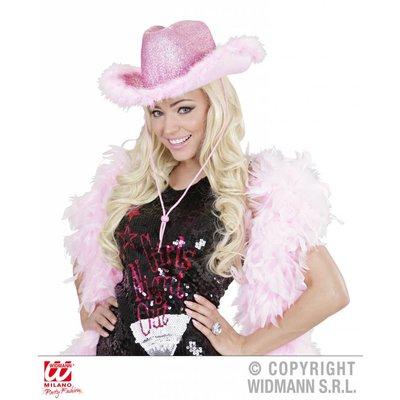 Roze cowboyhoed met bontje