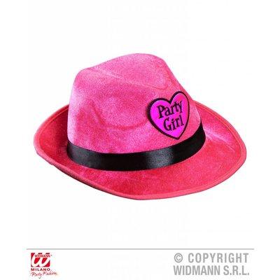 Roze Fedora hoed party girl