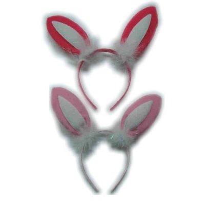 Haarbeugels met Bunny oortjes
